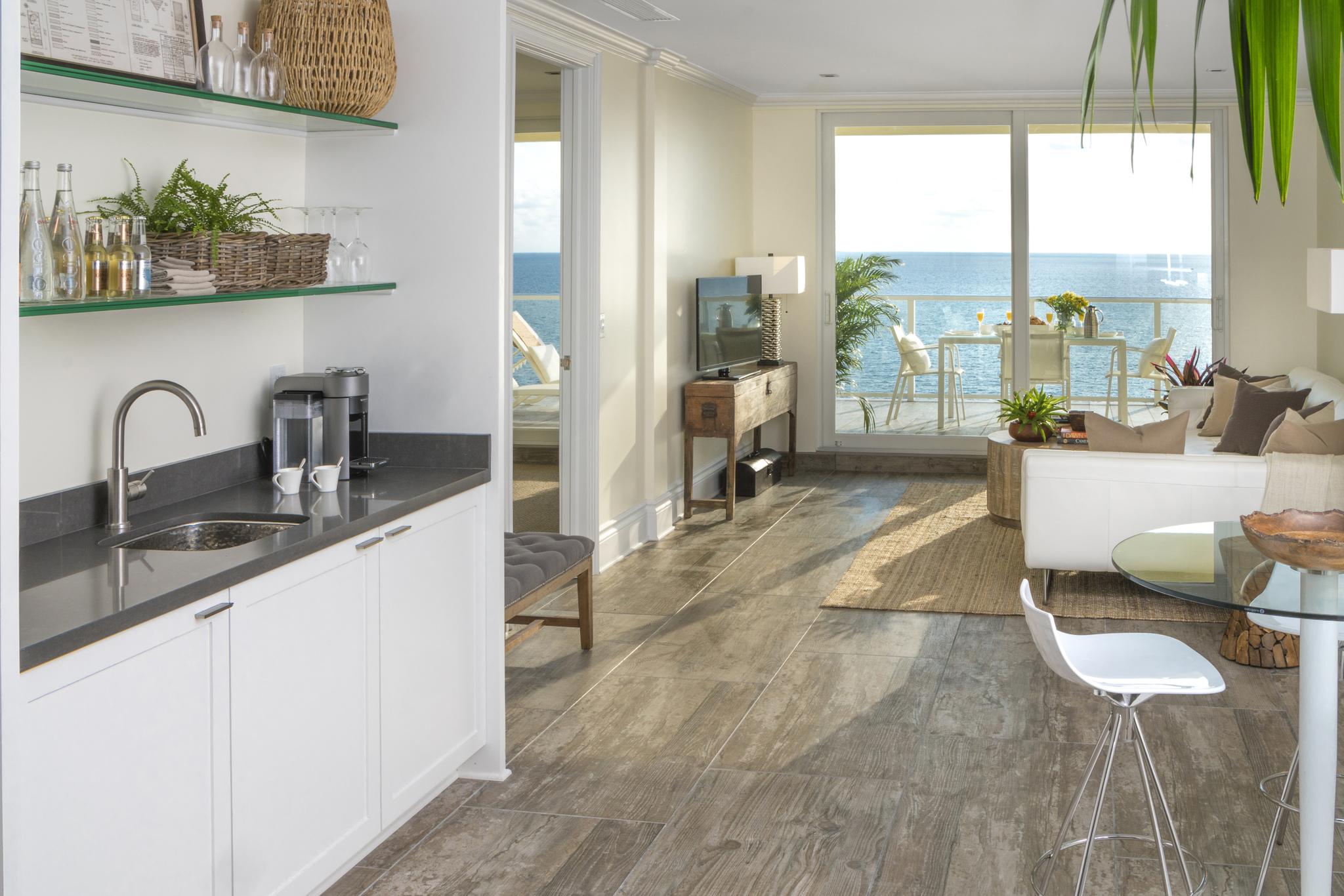 Ocean Suite Room with ocean view at Pelican Grand Beach Resort
